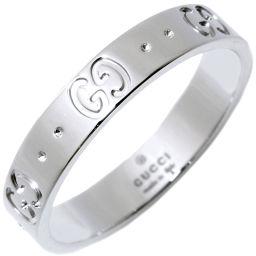 グッチ K18WG アイコンリング 指輪(リング) メンズリング #18(17号)