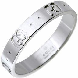 グッチ K18WG アイコンリング 指輪(リング) メンズリング #20(19号)