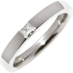 ハリーウィンストン Pt950 ダイヤ1P(約0.10ct) プリンセスカット マリッジリング 指輪(リング) 11号