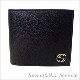 GUCCI Gucci two fold wallet ACE CELLARIUS Black 308795 A7MMN 1060