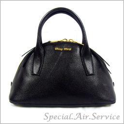 MIU MIU Miu Miu MADRAS Madras handbag NERO RL0091 2AJB F0002