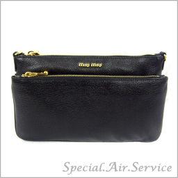 MIU MIU Miu Miu MADRAS Madras clutch bag NERO RP 0369 2AJB F0002