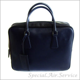 PRADA Prada Travel Bag SAFFIANO TRAVEL BALTICO + NERO VS 305 M