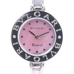 BVLGARI ブルガリ ビーゼロワン Bzero1 BZ22S ステンレススチール シルバー クオーツ レディース ピンクシェル文字盤 腕時計【中古】A-ランク