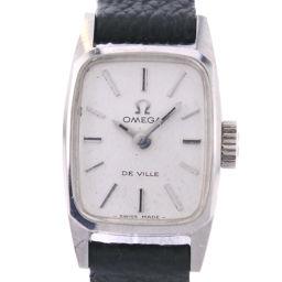 OMEGA オメガ デヴィル デビル ステンレススチール ブラック 手巻き レディース シルバー文字盤 腕時計【中古】