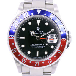 ROLEX GMT Master 2 Pepsi 16710T Stainless Steel Blue / Red Self-winding Men's Black Dial Watch [Used] A Rank