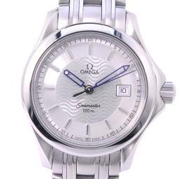 OMEGA オメガ シーマスター120M 2571.31 ステンレススチール クオーツ レディース シルバー文字盤 腕時計【中古】A-ランク