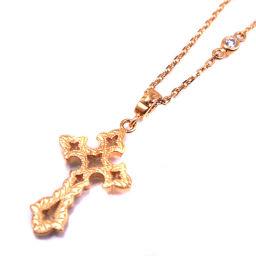 Loree Rodkin ローリーロドキン クロス十字架 1Pダイヤ K18イエローゴールド レディース ネックレス【中古】SAランク