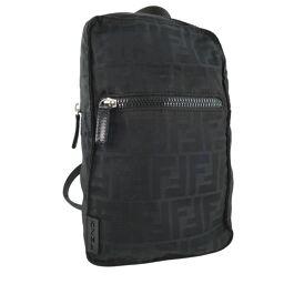 FENDI FENDI Zucca Canvas Black Ladies Backpack Daypack [Used]