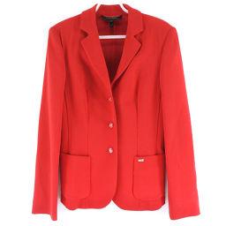 ESCADA Escada wool red ladies tailored jacket [pre-owned]