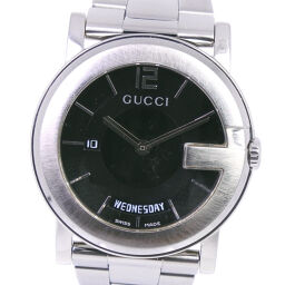 GUCCI Gucci G Chrono Collection Day-Date 101M Stainless Steel Quartz Analog Display Men's Black Dial Watch [Used]