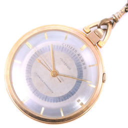 CITIZEN シチズン FOURHANDS 4ハンズ ステンレススチール 手巻き ユニセックス シルバー文字盤 懐中時計【中古】