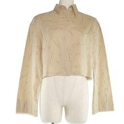 CHANEL Short P12983V07621 Cotton Beige Women's Long Sleeve Shirt [Used] A-Rank