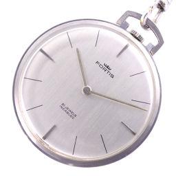 FORTIS フォルティス ステンレススチール シルバー ユニセックス シルバー文字盤 懐中時計【中古】A-ランク