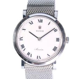 WALTHAM ウォルサム マキシム maxim ステンレススチール シルバー 手巻き メンズ 白文字盤 腕時計【中古】