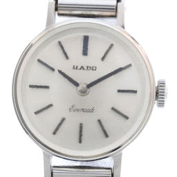RADO Rado * OH finished K14 white gold × stainless steel silver hand-rolled women's silver dial watch [pre]