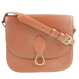 LOUIS VUITTON Louis Vuitton Saint-Cloud M52193 Epi Leather Kenya Brown TH0328 Engraved Women's Shoulder Bag [Used] B-Rank