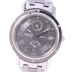 HERMES エルメス クリッパー パワーリザーブ CL2.810 ステンレススチール 自動巻き メンズ グレー文字盤 腕時計【中古】