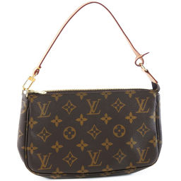 LOUIS VUITTON Louis Vuitton Pochette Accessoir M51980 Monogram Canvas Purple Ladies Pouch [Used] SA Rank