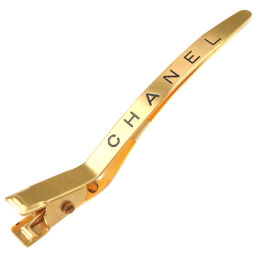 CHANEL Hair Clip GP Gold 96A Engraved Ladies Other Fashion Accessories [Used] A Rank
