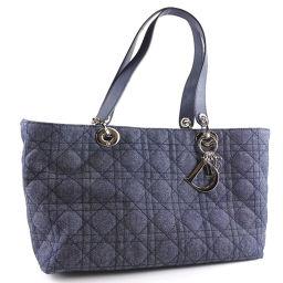 Christian Dior クリスチャンディオール CDC44596 デニム×キャンバス ブルー レディース トートバッグ【中古】Aランク