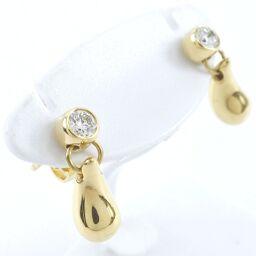 TIFFANY & Co. Tiffany & Co. Tiffany & Co. Elsa Peretti K18 Yellow Gold x Diamond Women's Earrings [Used] A rank