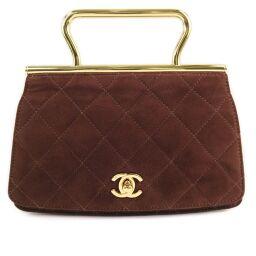 CHANEL Rare Vintage A05515 X01036 Suede Brown Ladies Handbag [Used] A rank