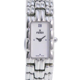 FENDI フェンディ オロロジ F66240-660L ステンレススチール シルバー クオーツ レディース 白文字盤 腕時計【中古】A-ランク