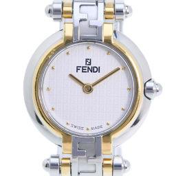 FENDI フェンディ オロロジ コンビ 760L GP×ステンレススチール ホワイト クオーツ レディース 白文字盤 腕時計【中古】