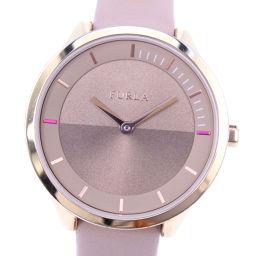 Furla フルラ 4251112501 ステンレススチール×レザー ピンク クオーツ レディース ローズ文字盤 腕時計【中古】A-ランク