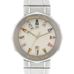 CORUM コルム アドミラルズカップ 99.810.20V50.B ステンレススチール シルバー クオーツ メンズ 白文字盤 腕時計【中古】