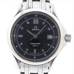 OMEGA オメガ シーマスター120 2571.50 ステンレススチール シルバー クオーツ レディース 黒文字盤 腕時計【中古】