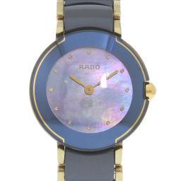 RADO ラドー クポール 153.0360.3 セラミック ネイビー クオーツ レディース ブルーシェル文字盤 腕時計【中古】