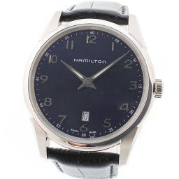 HAMILTON ハミルトン ジャズマスター シンライン H385111/H38511743 ステンレススチール×レザー シルバー クオーツ メンズ ネイビー文字盤 腕時計【中古】Sランク