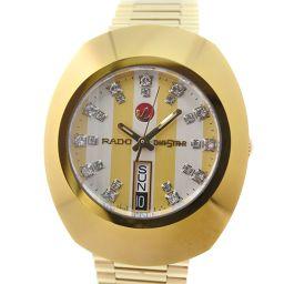 RADO ラドー ダイヤスター ダイヤインデックス 648.0413.3 GP ゴールド 自動巻き メンズ ゴールド文字盤 腕時計【中古】A+ランク