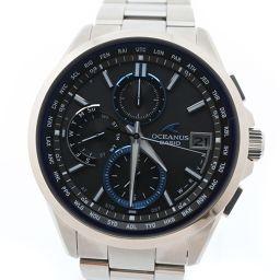 CASIO カシオ オシアナス OCW-T2600-1AJF チタン シルバー ソーラー電波時計 メンズ グレー文字盤 腕時計【中古】SAランク