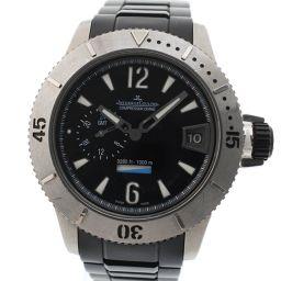 JAEGER-LECOULTRE ジャガー・ルクルト マスターコンプレッサー ダイビング/ダイバー GMT 160.T.05 ステンレススチール シルバー 自動巻き メンズ 黒文字盤 腕時計【中古】Aランク
