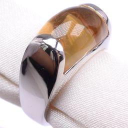 BVLGARI ブルガリ トロンケット 11.5号 K18ホワイトゴールド×シトリン 11.5号 レディース リング・指輪【中古】SAランク