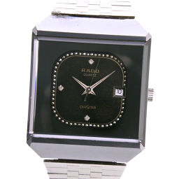 RADO RADO DIASTAR DIASTER 711.0067.3N Stainless Steel Quartz Women's Black Dial Watch [Pre] B-rank