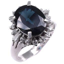 Pt850プラチナ×サファイア×ダイヤモンド 9号 S3.08 D0.36刻印 レディース リング・指輪【中古】SAランク