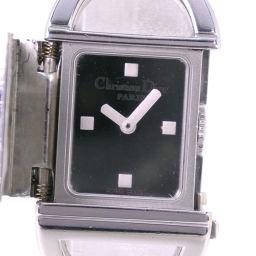 Christian Dior クリスチャンディオール パンディオラ ブレスウォッチ D78-100 ステンレススチール シルバー クオーツ レディース 鏡面文字盤 腕時計【中古】A-ランク