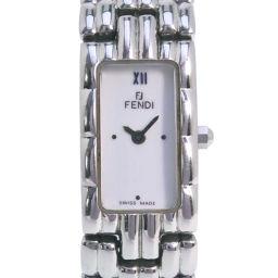 FENDI フェンディ オロロジ 660L ステンレススチール シルバー クオーツ レディース 白文字盤 腕時計【中古】