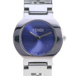 FENDI フェンディ オロロジ 3050L ステンレススチール シルバー クオーツ レディース 青文字盤 腕時計【中古】