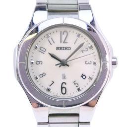 SEIKO セイコー ルキア 7N82-0AX0 ステンレススチール シルバー クオーツ レディース ホワイト文字盤 腕時計【中古】A-ランク
