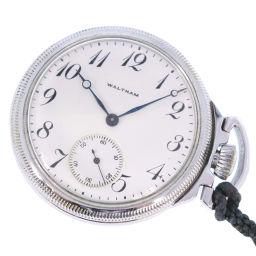 WALTHAM ウォルサム ステンレススチール シルバー 手巻き ユニセックス 白文字盤 懐中時計【中古】