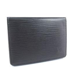 LOUIS VUITTON ルイ・ヴィトン ポルト2カルト ヴェルティカル M63202 エピレザー 黒 メンズ パスケース【中古】Aランク