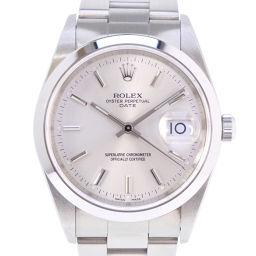 ROLEX ロレックス オイスターパーペチュアル デイト P番 15200 ステンレススチール 自動巻き メンズ シルバー文字盤 腕時計【中古】SAランク