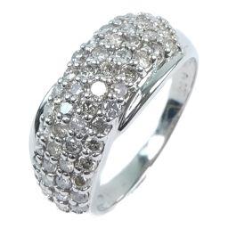 パヴェ Pt900プラチナ×ダイヤモンド 11.5号 1.00刻印 レディース リング・指輪【中古】Aランク