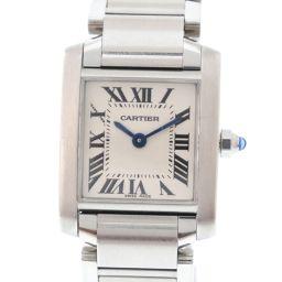 CARTIER カルティエ タンクフランセーズSM W51008Q3 ステンレススチール シルバー クオーツ レディース 白文字盤 腕時計【中古】A-ランク