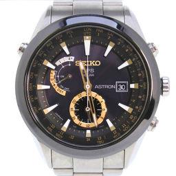 SEIKO セイコー アストロン SAST003 7X52-0AA0 チタン×セラミック ブラック ソーラー電波時計 メンズ 黒文字盤 腕時計【中古】A-ランク